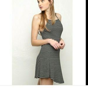 Brandy Melville Abigail Striped Skater Dress OS